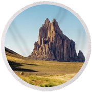 Shiprock 3 - North West New Mexico Round Beach Towel by Brian Harig