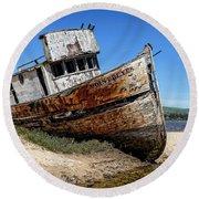 Round Beach Towel featuring the digital art Shipwreck by Jason Abando
