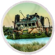 Shipwreck - Mary D. Hume Round Beach Towel
