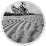 Shipwreck Provincetown Round Beach Towel