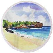 Shipwreck's Beach 2 Round Beach Towel