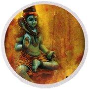 Shiva Hindu God Round Beach Towel