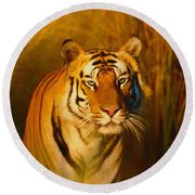 Shiva - Painting Round Beach Towel