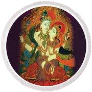 Shiva Shakti Round Beach Towel