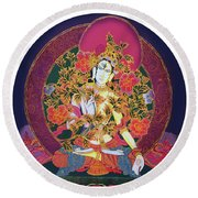 Shiva Shakti Yin And Yang Round Beach Towel