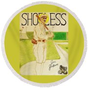 Shoeless Joe Jackson Round Beach Towel