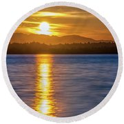 Shoot The Sun Round Beach Towel