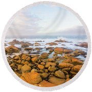 Round Beach Towel featuring the photograph Shore Calm Morning by Jorgo Photography - Wall Art Gallery