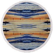 Shore Lines Round Beach Towel