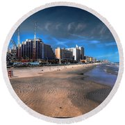 Round Beach Towel featuring the photograph Shoreline by Jim Hill
