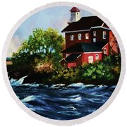Shoreline Light Round Beach Towel