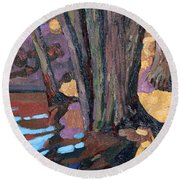 Shoreline Maples Round Beach Towel