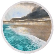 Shoreline Painted Round Beach Towel