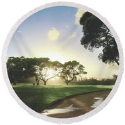 Round Beach Towel featuring the photograph Show Me The Way by Laurie Search