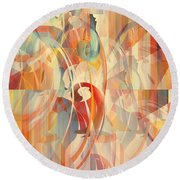 Round Beach Towel featuring the digital art Shower Curtain No 1 by Robert G Kernodle