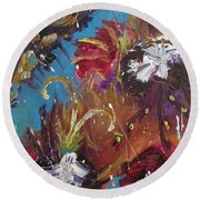 Showers Of Flowers Round Beach Towel