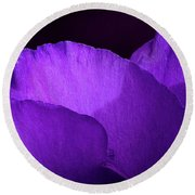 Showy Prairie Gertain Flower Petals Round Beach Towel