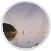 Shrewsbury River - New Jersey Round Beach Towel