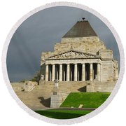 Shrine Of Remembrance Round Beach Towel