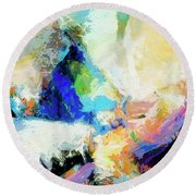 Round Beach Towel featuring the painting Shuttle by Dominic Piperata