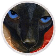 Siamese Round Beach Towel