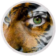 Siberian Man Round Beach Towel