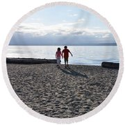 Siblings Round Beach Towel