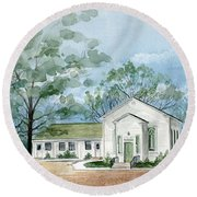 Sicklerville 1859 Church  Round Beach Towel