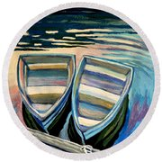 Side By Side Round Beach Towel