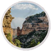 Side Canyon View Round Beach Towel