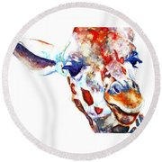 Side Eye Round Beach Towel