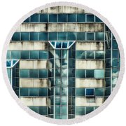 Side Of The Building  Round Beach Towel