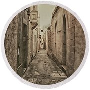 Side Street Malta Round Beach Towel