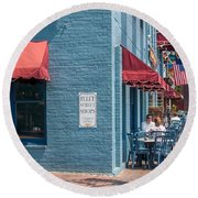 Sidewalk Cafe Annapolis Round Beach Towel