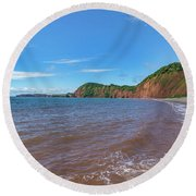 Round Beach Towel featuring the photograph Sidmouth Jurassic Coast by Scott Carruthers