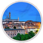 Round Beach Towel featuring the photograph Siena by Fabrizio Troiani