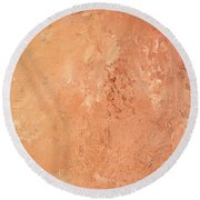 Sienna Rose Round Beach Towel by Michael Rock