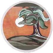 Sienna Skies Round Beach Towel by Pat Purdy