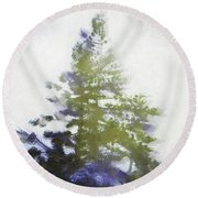 Sierra Book Pines Round Beach Towel