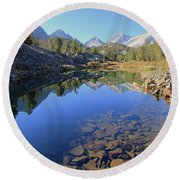 Round Beach Towel featuring the photograph Sierra Geology by Sean Sarsfield