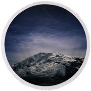 Sierra Majesty In February Round Beach Towel