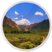 Sierra Mountains - Mammoth Lakes, California Round Beach Towel