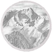 Sierra Mt's Round Beach Towel