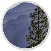 Round Beach Towel featuring the photograph Sierra Nevada Foothills by Steven Sparks