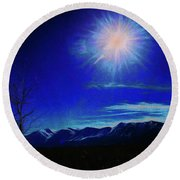 Sierra Night Round Beach Towel