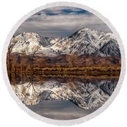 Sierra Reflections 2 Round Beach Towel