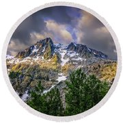 Sierra Sunrise Round Beach Towel