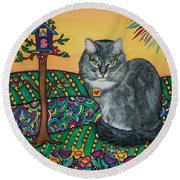 Sierra The Beloved Cat Round Beach Towel