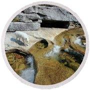 Round Beach Towel featuring the photograph Sierra Wild by Sean Sarsfield