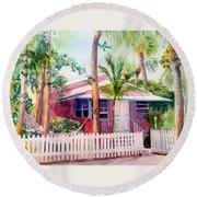 Siesta Key Cottage Round Beach Towel